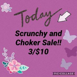 SCRUNCHY AND CHOKER SALE